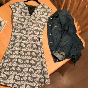 Textured print Formal Summer dress
